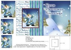 Merry Christmas Fold Back Card