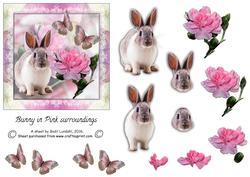 Bunny in Pink Surroundings
