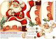 Shaped Card Front Santa Decoupage