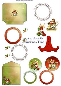 Christmas Elves Plate Kit