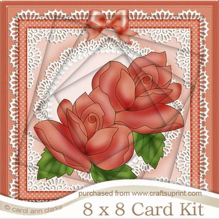 8 x 8 Just Roses Twisted Tunnel Card Kit