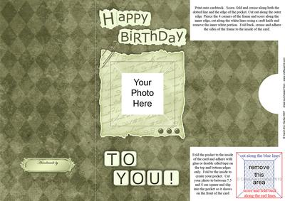 Add a Photo Birthday with Easy Fold Frame