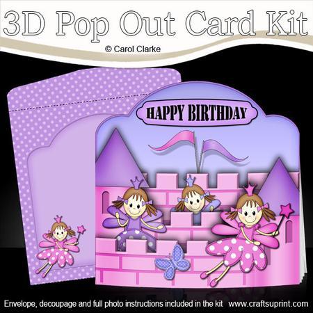3D Fairy Castle Pop Out Card Kit