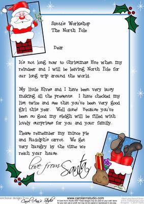 Template Santa Letter Australia Post