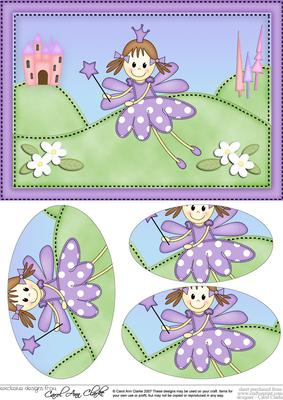 A5 Fairy Twinkletoes Oval Pyramage Topper