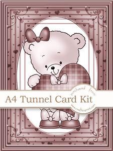 A4 Rosie's Heart in Nutmeg Tunnel Card Kit