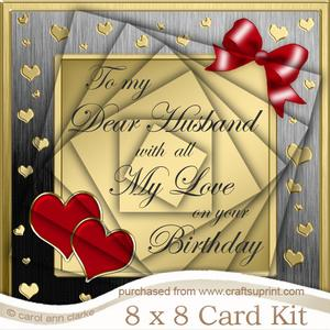 8 x 8 Birthday Husband Kit with Twisted Pyramage