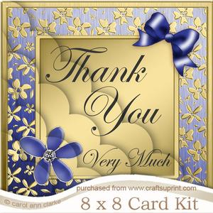 8 x 8 Floral Elegance Thank You Kit with Scalloped Corners