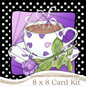 8 x 8 Coffee Time Twisted Tunnel Card Kit
