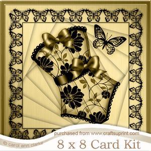 8 x 8 Elegant Boudoir Twisted Tunnel Card Kit