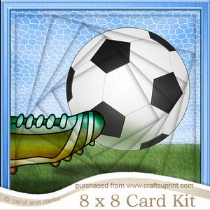 8 x 8 Football Twisted Tunnel Card Kit
