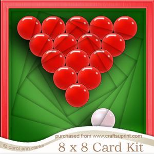 8 x 8 Snooker Twisted Tunnel Card Kit
