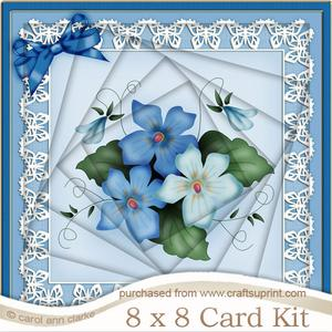 8 x 8 Pretty Viola Twisted Tunnel Card Kit
