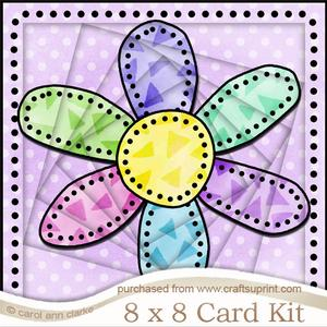 8 x 8 Patchwork Flower Twisted Tunnel Card Kit