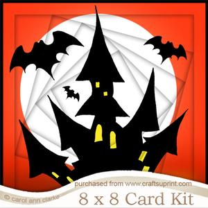 8 x 8 a Haunting We Will Go Twisted Tunnel Card Kit