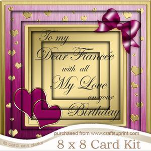 8 x 8 Fianc�e Birthday Tunnel Card Kit