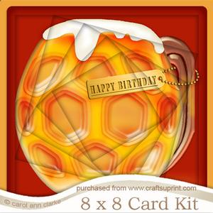 8 x 8 Mine's a Pint!! Twisted Tunnel Card Kit