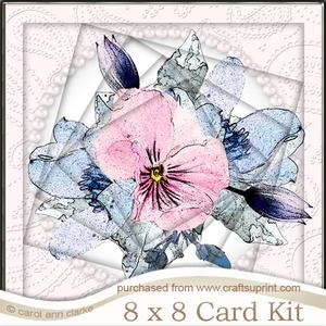 8 x 8 Posy and Pearls Twisted Tunnel Card Kit