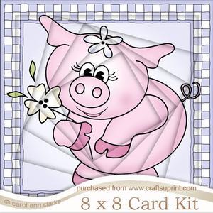 8 x 8 Princess Piggywig Twisted Tunnel Card Kit