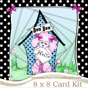 8 x 8 Cute Poodle Twisted Tunnel Card Kit