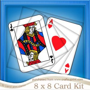 8 x 8 Playing Cards Twisted Tunnel Card Kit
