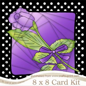 8 x 8 Single Rose Twisted Tunnel Card Kit