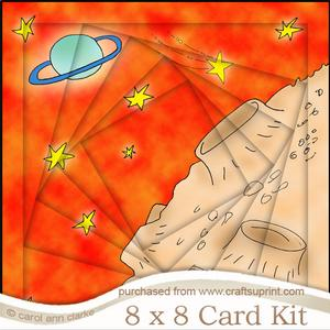8 x 8 Out of This World Twisted Tunnel Card Kit