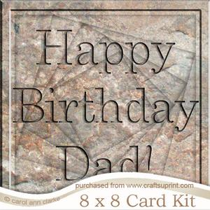 8 x 8 Birthday Dad Set in Stone Twisted Tunnel Card Kit
