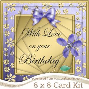 8 x 8 Floral Elegance Birthday Twisted Tunnel Card Kit
