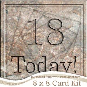 8 x 8 18 Today! Set in Stone Twisted Tunnel Card Kit