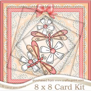 8 x 8 Dreamy Dragonflies Twisted Tunnel Card Kit