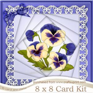 8 x 8 Pansy on Butterfly Lace Twisted Tunnel Card Kit