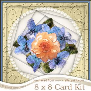 8 x 8 Flowers and Pearls Twisted Tunnel Card Kit