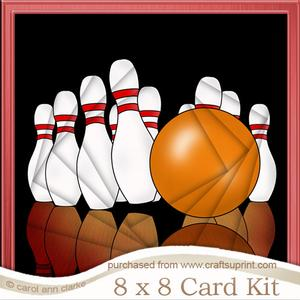 8 x 8 10 Pin Bowling Twisted Tunnel Card Kit