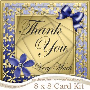 8 x 8 Floral Elegance Thank You Twisted Tunnel Card Kit