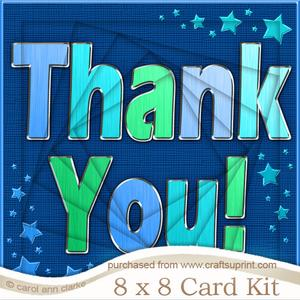 8 x 8 Thank You Twisted Tunnel Card Kit