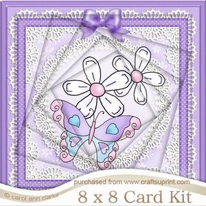 8 x 8 Fluttery Butterfly Twisted Tunnel Card Kit