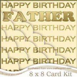 8 x 8 Father Birthday Scalloped Corner Kit