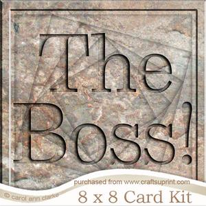 8 x 8 the Boss Set in Stone Twisted Tunnel Card Kit