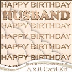 8 x 8 Husband Birthday Kit with Scalloped Corners