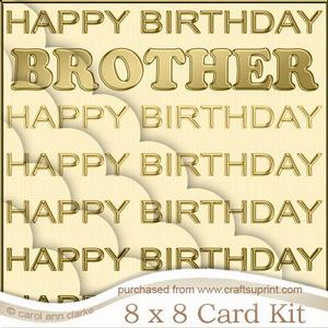 8 x 8 Birthday Brother Scalloped Corner Kit