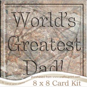 8 x 8 Greatest Dad Set in Stone Twisted Tunnel Card Kit