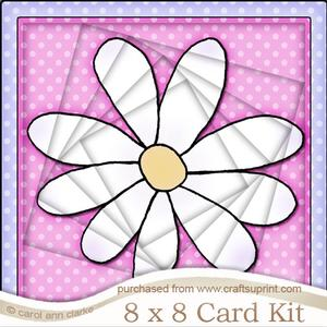 8 x 8 Daisy Twisted Tunnel Card Kit