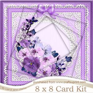 8 x 8 Spring Flowers Twisted Tunnel Card Kit