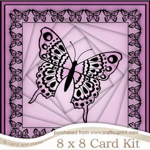 8 x 8 Big Butterfly Twisted Tunnel Card Kit