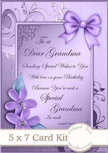 3d Flowers N Butterfly Window Card Kit Decoupage N