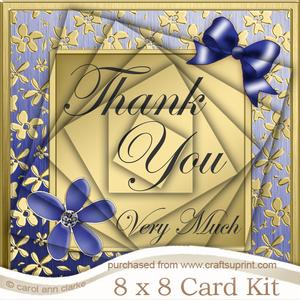 8 x 8 Floral Elegance Thank You Kit with Twisted Pyramage