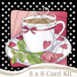 8 x 8 Time for Tea Twisted Tunnel Card Kit