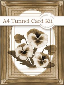 A4 Pansy in Nutmeg Tunnel Card Kit