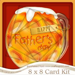 8 x 8 Mine's a Pint!! Fathers Daytwisted Tunnel Card Kit